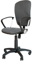Кресло офисное ДЭФО Фокус GTP LUX CHROME черный