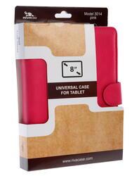 """Чехол-книжка для планшета универсальный 8""""  розовый"""