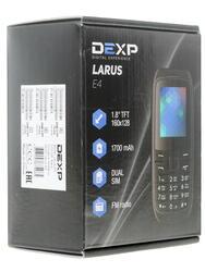 Сотовый телефон DEXP Larus E4 черный