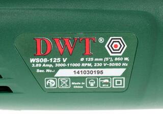 Углошлифовальная машина DWT WS 08-125 V