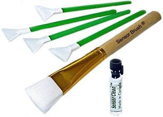 Набор для чистки сенсоров фотоаппаратов Sensor Brush Dry/Wet mini-kit 1.6x/16mm