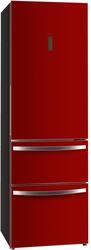 Холодильник с морозильником Haier AFD631GR серебристый, красный