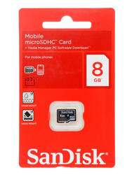 Карта памяти SanDisk microSDHC 8 Гб