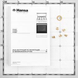 Газовая плита Hansa FCGW53020 белый, черный