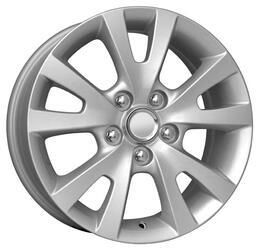 Автомобильный диск Литой K&K КС396 6,5x16 5/114,3 ET 52,5 DIA 67,1 Сильвер