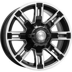 Автомобильный диск литой K&K Полюс 7,5x16 6/139,7 ET 30 DIA 100,1 Алмаз черный