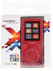 Мультимедиа плеер teXet T-48 красный