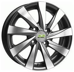 Автомобильный диск Литой Nitro Y465 5,5x14 4/100 ET 43 DIA 60,1 Sil