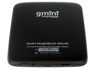 6'' Электронная книга gmini MagicBook A6LHD черный + чехол