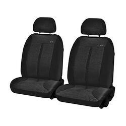 Накидка на сиденье H&R SUPER MALIBU FRONT передняя, велюр букле, черная
