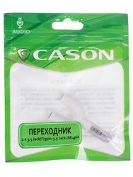 Переходник Cason 3.5 mm jack 4pin - 3.5 mm jack x2
