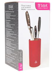 Подставка для ножей Taller TR-2511 красный
