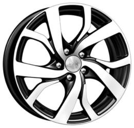 Автомобильный диск Литой K&K Палермо 6,5x16 5/100 ET 38 DIA 67,1 Алмаз черный