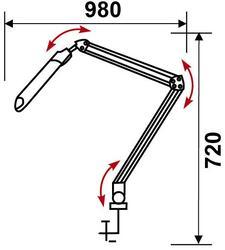 Настольный светильник Бюрократ DPL-008WH белый