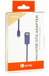 Кабель OTG InterStep IS-DC-COTGMFTRO-000B201 USB-host - micro USB фиолетовый