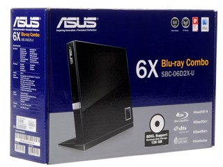 Привод внеш. BD-ROM/DVD-RW ASUS SBC-06D2X-U/BLK/G/AS