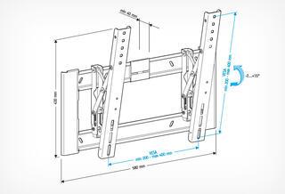 Кронштейн для телевизора Holder LCD-T4608-B