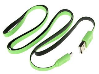 Кабель InterStep USB - micro USB черный, зеленый