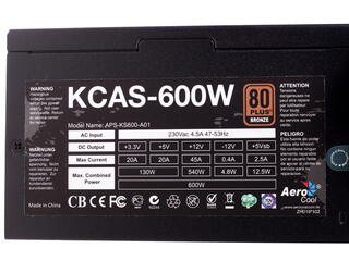 Блок питания Aerocool KCAS 600W [KCAS-600W]
