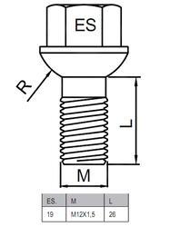 Болты-секретки HEYNER P 42555