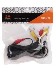 Кабель DEXP 3xRCA - 3xRCA