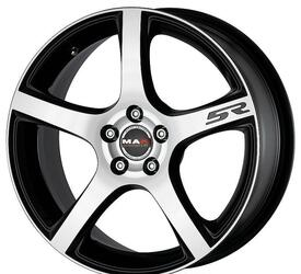 Автомобильный диск Литой MAK Fever-5R 7x17 5/110 ET 35 DIA 65,1 Black mirror