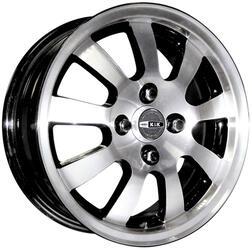 Автомобильный диск Литой K&K Вулкан 5,5x14 4/100 ET 42 DIA 67,1 Алмаз черный
