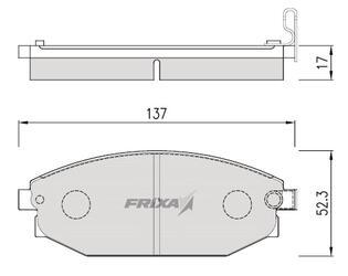 Тормозные колодки Hankook Frixa FPH07