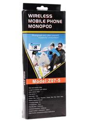 Монопод для селфи MobilStyle с блютуз кнопкой сиреневый