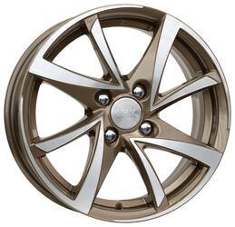Автомобильный диск Литой K&K Игуана 6,5x16 4/100 ET 40 DIA 67,1 Алмаз брасс