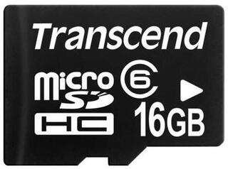 Карта памяти Transcend TS16GUSDC6 microSDHC 16 Гб