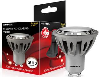 Лампа светодиодная Supra SL-LED-R-5W/3000/GU10