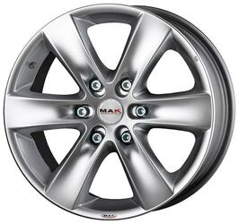 Автомобильный диск Литой MAK Sierra 7,5x18 6/139,7 ET 25 DIA 106,1 Hyper Silver