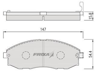 Тормозные колодки Hankook Frixa FPH09