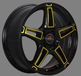 Автомобильный диск Литой Yokatta MODEL-35 8x18 5/115 ET 45 DIA 70,3 BK+Y