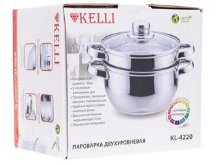 Пароварка Kelli KL-4220 серебристый