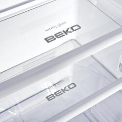 Холодильник с морозильником BEKO CN327120S серебристый