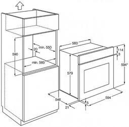 Электрический духовой шкаф AEG BE 5013421 M
