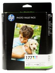 Набор картриджей HP 177 (Q7967HE) + Глянцевая фотобумага 10x15см 150 листов