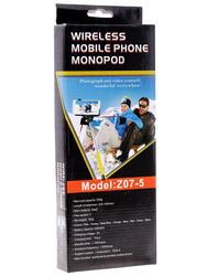 Монопод для селфи MobilStyle с блютуз кнопкой синий