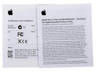 Переходник Apple MD823ZM/A Lightning 8-pin - Lightning 30-pin