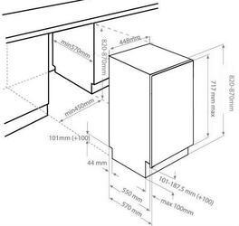 Встраиваемая посудомоечная машина Beko DIS29020