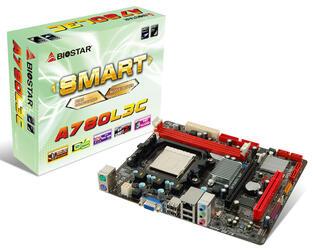 Плата Biostar Socket-AM3 A780L3C/B AMD760G/SB710 2xDDR3-1600 PCI-E DSub 6ch 4xSATA IDE RAID GLAN ATX