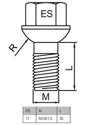 Болты-секретки HEYNER I1 42552