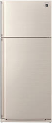 Холодильник с морозильником Sharp SJSC55PVBE бежевый