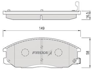 Тормозные колодки Hankook Frixa FPH09N