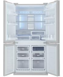 Холодильник с морозильником Sharp SJFS97VSL серебристый
