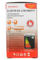 Лампа светодиодная Supra SL-LED-PR-G45-3.5W/3000/E14