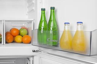 Холодильник с морозильником Candy CBSA 6200X серебристый