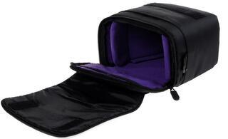 Сумка Riva 7302 черный, фиолетовый